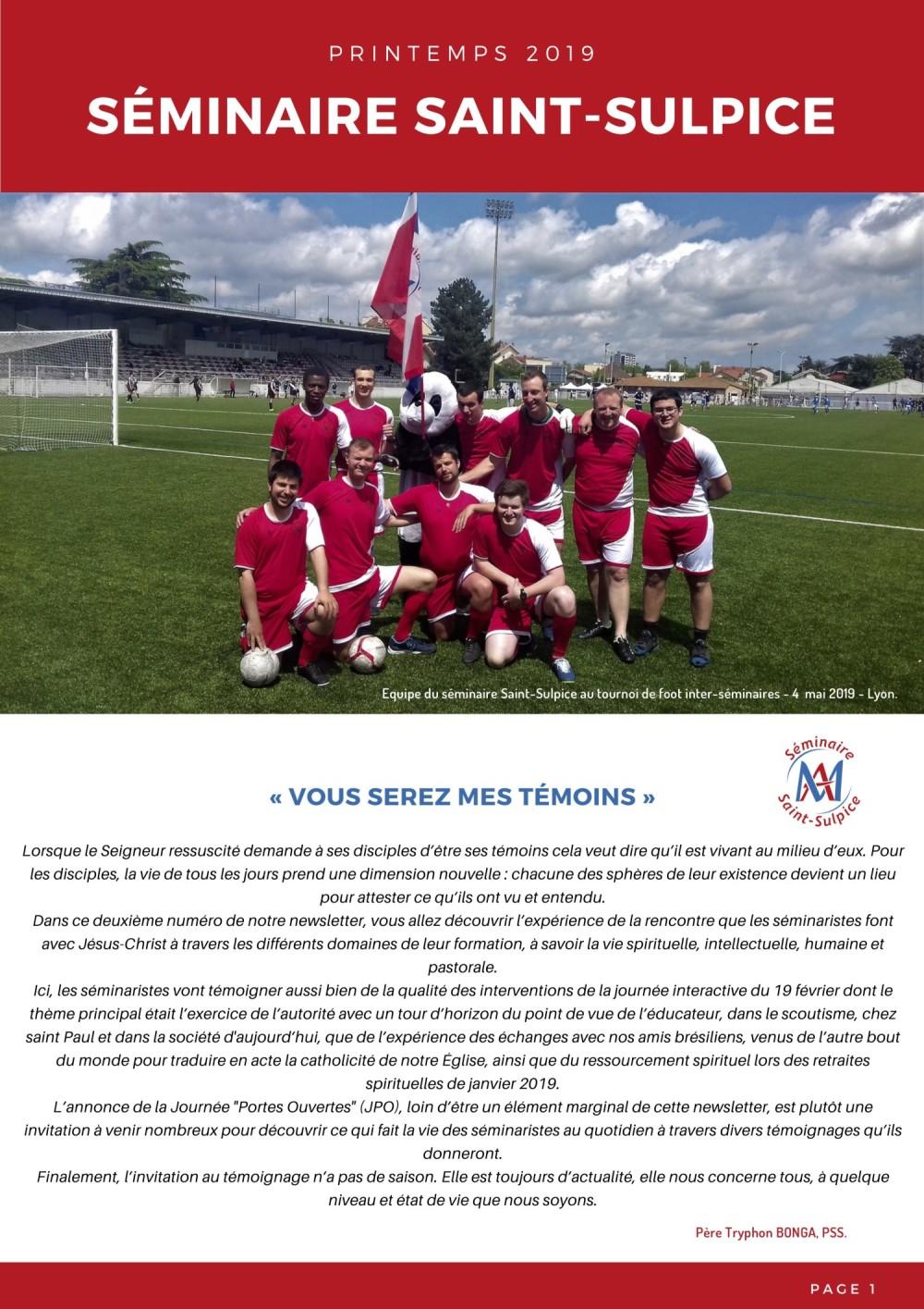 Newsletter Séminaire Saint-Sulpice mai 2019 - p1