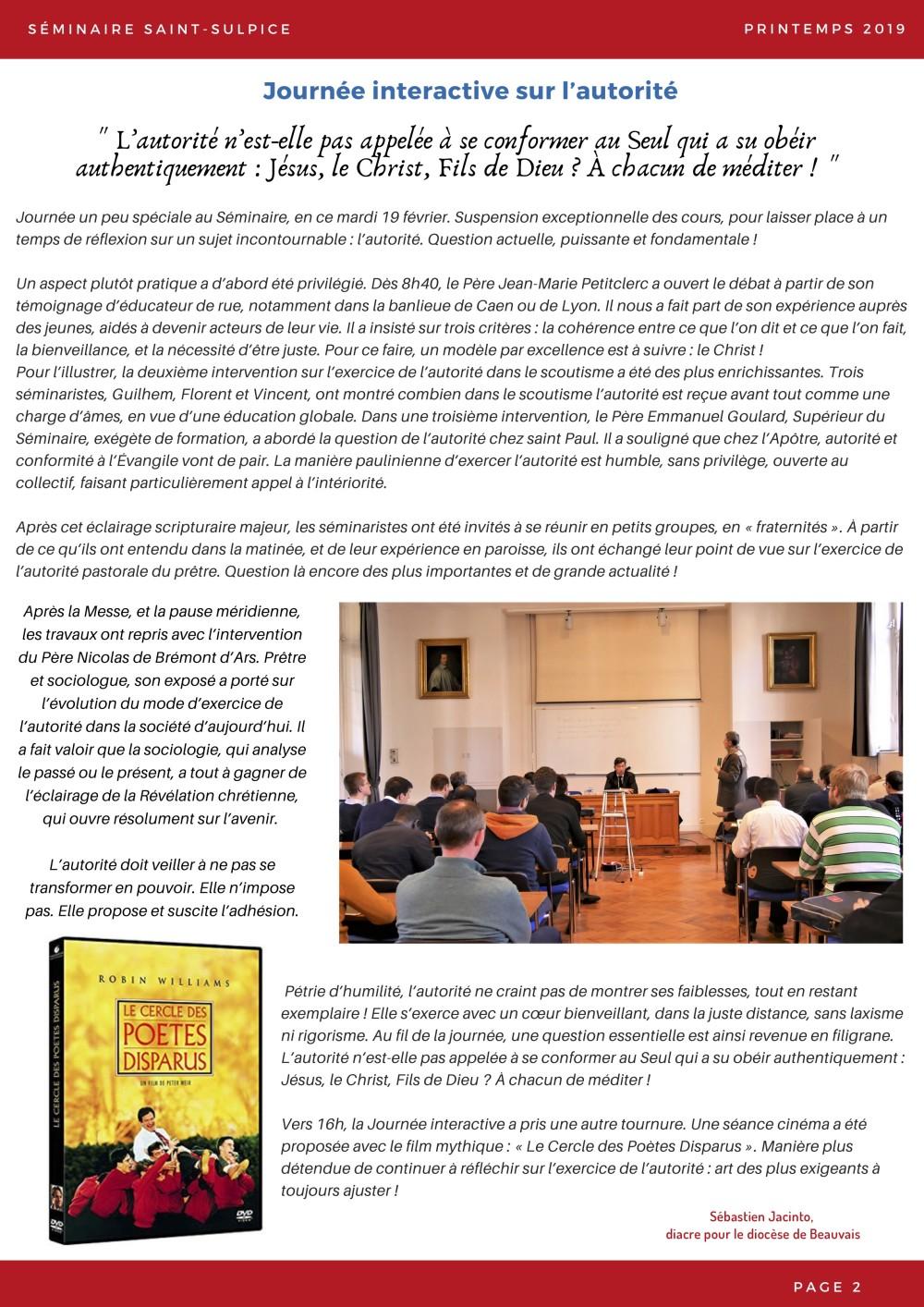 Newsletter Séminaire Saint-Sulpice mai 2019 - p2