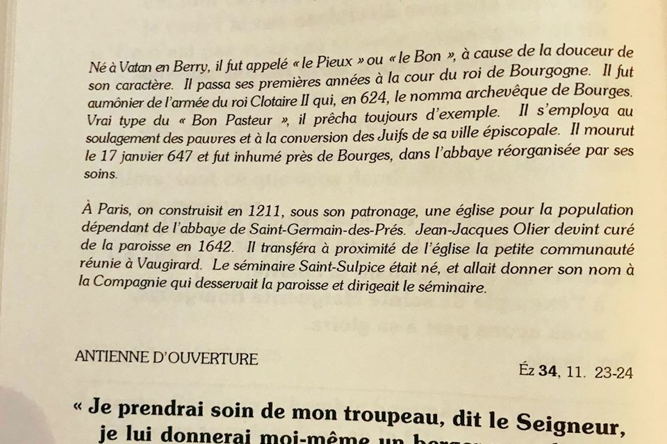 17 janvier, mémoire de Saint Sulpice, Archevêque de Bourges