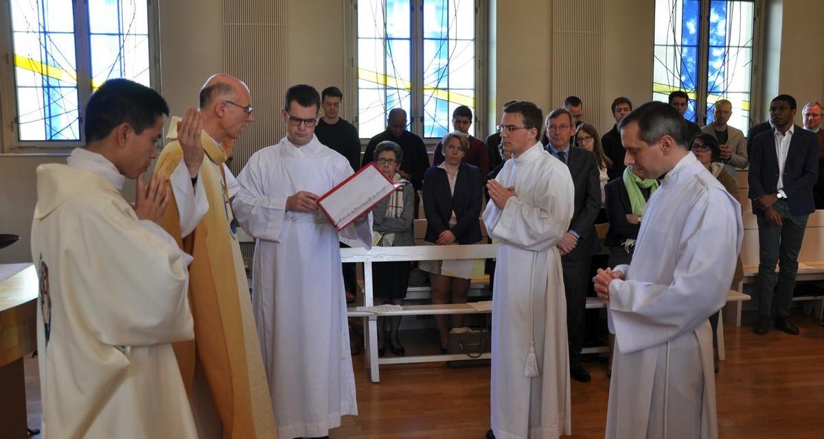 Admission d'Augustin et Sébastien