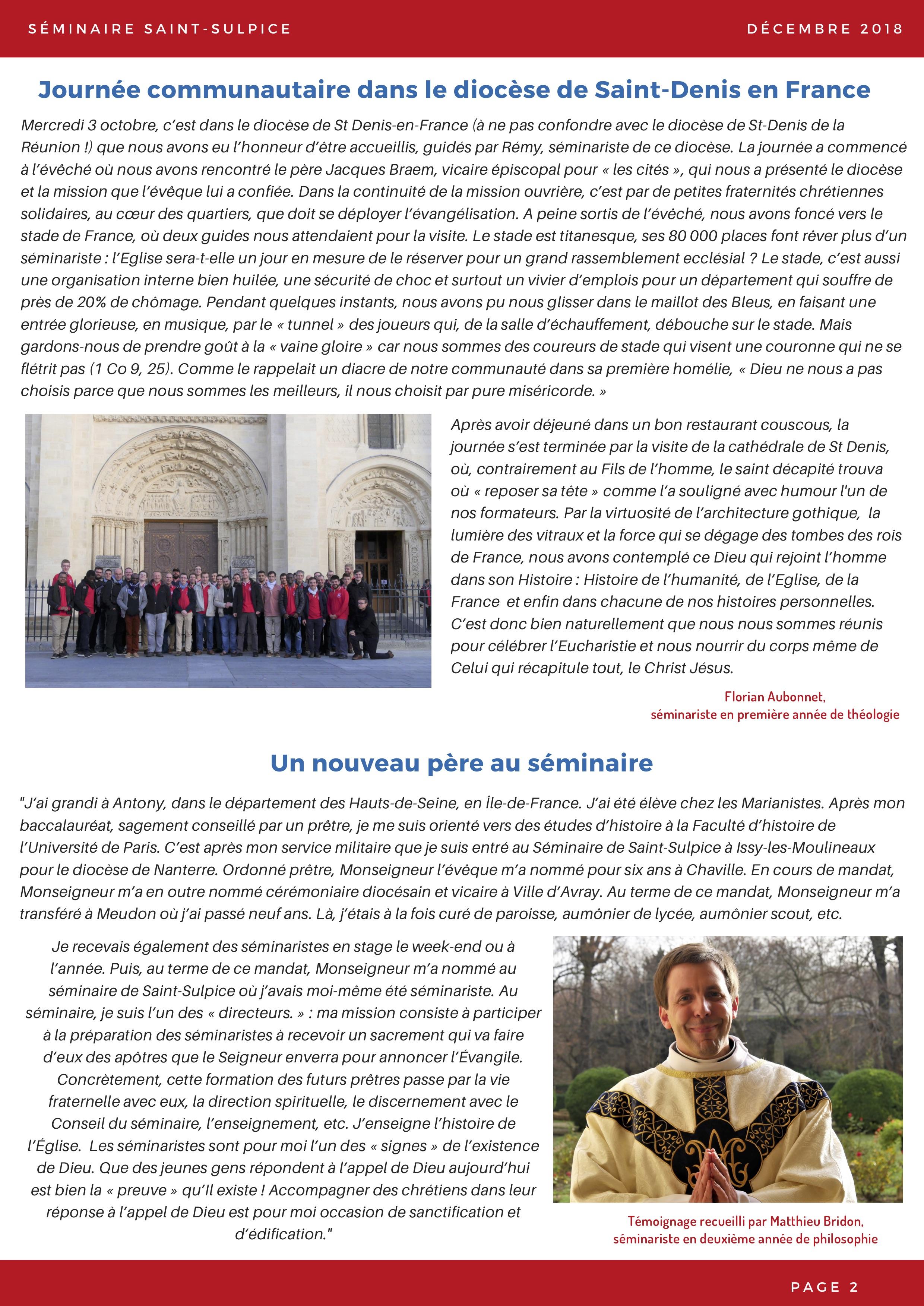 Newsletter Séminaire Saint-Sulpice décembre 2018 - p2